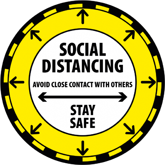 Social Distancing Apart - all direction
